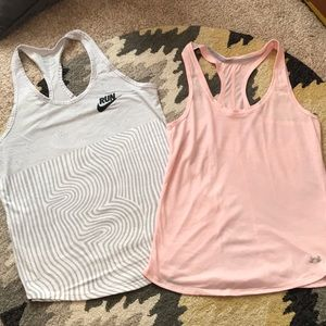 Nike and Under Armour tanks